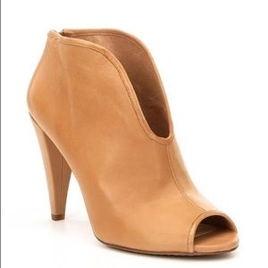 VINCE CAMUTO-Amber Cognac Leather Boho Booties-8.5